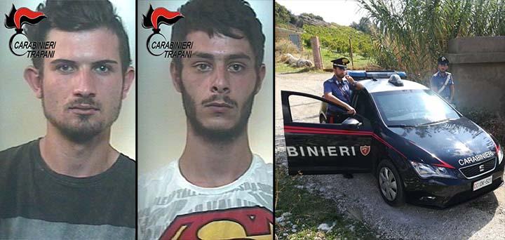 Rubano borsa alla titolare di un esercizio commerciale di Alcamo, arrestati