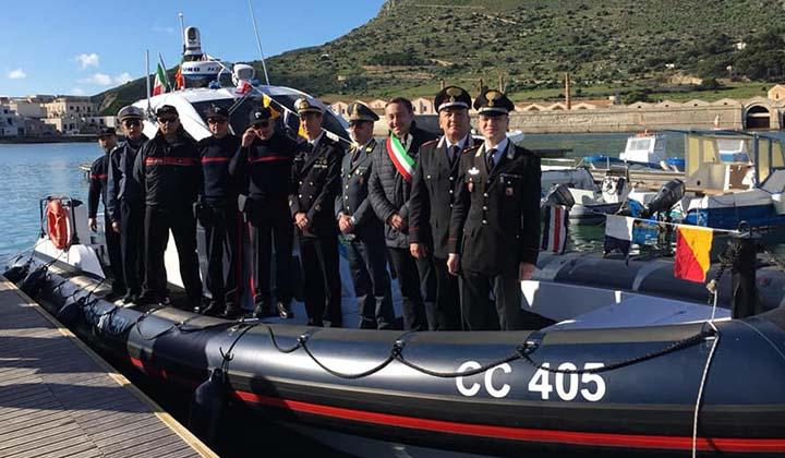 Inaugurato il nuovo mezzo nautico dei Carabinieri che farà base a Favignana
