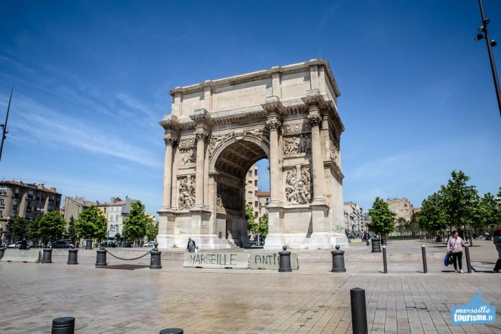 Arc de Triomphe y Porte d'Aix   MarseilleTourisme.fr