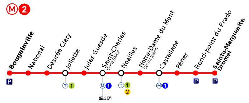 Metro Marseille Map Route Schedule And Price Marseilletourisme Fr