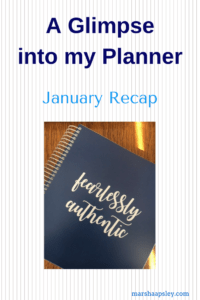 Let's glimpse into my planner for January