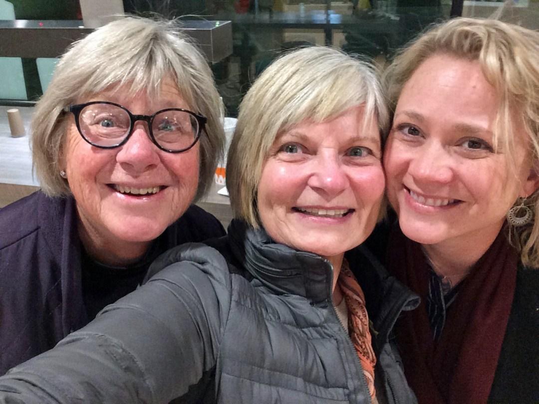 Critique Group: Mary Ann Hendrix, Marsha Elyn Wright, and Rebecca Koehn