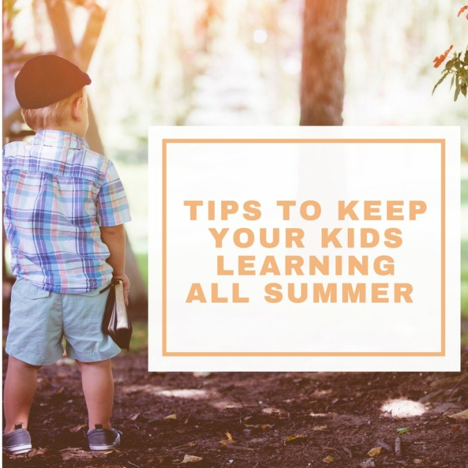 Little boy summer learning tips