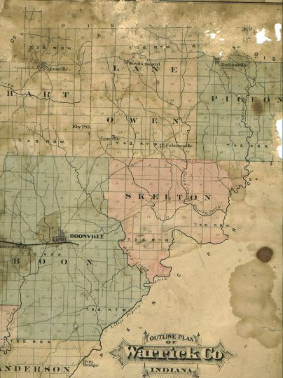 1880 Maps of Warrick County
