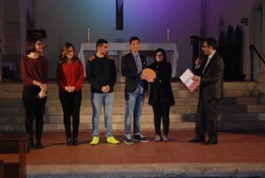 La premiazione ai quattro migliori studenti