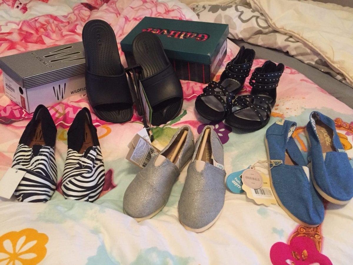 Voor 90 euro shopte ik 5 paar schoenen