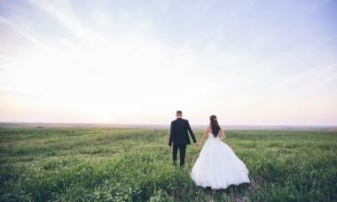 bruidspaar weiland
