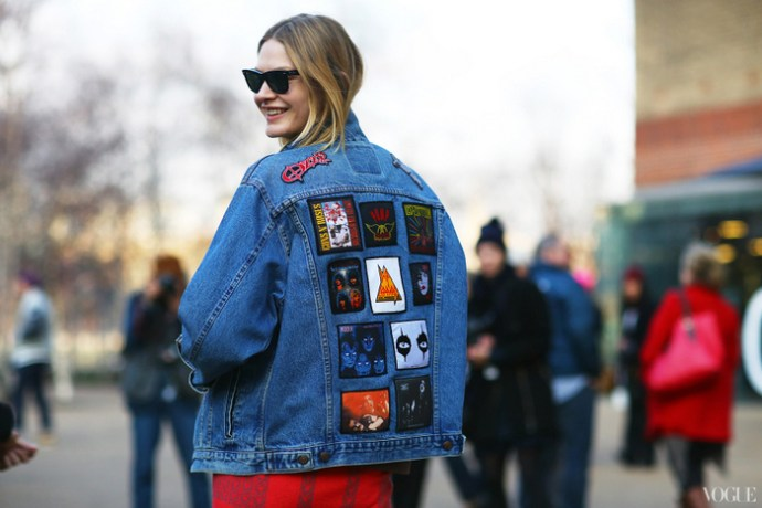 Studded-Hearts-London-Fashion-Week-Streetstyle-Denim-jacket