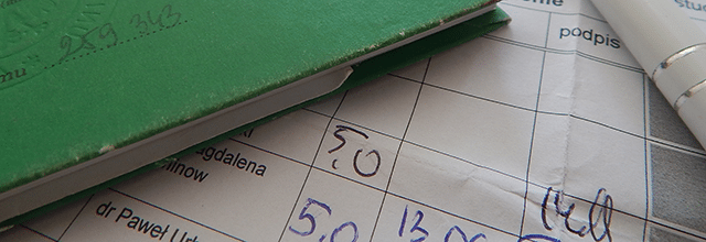 karta egzaminacyjna oceny studia indeks
