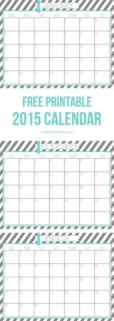 Kalendarz na 2015 od http://www.iheartnaptime.net