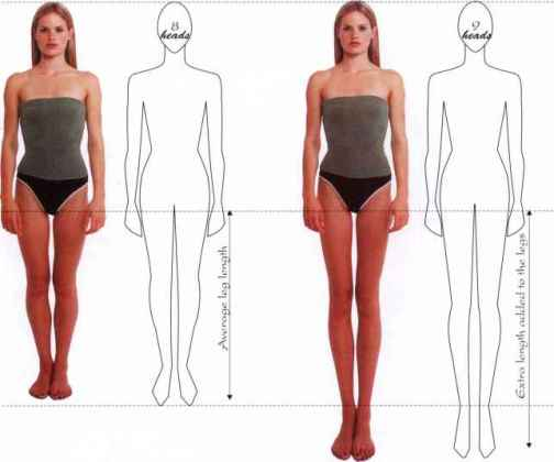 Fashion figure proportions   Figure Illustration   Martel Fashion Human Proportions Female