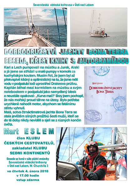 Dobrodružství jachty Bona Terra – beseda, křest knihy