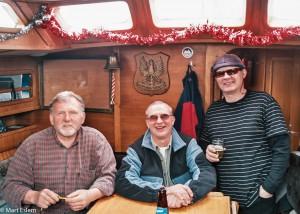 Polská část posádky - zleva kapitán Janusz, Jurek a Lech [Mart Eslem]