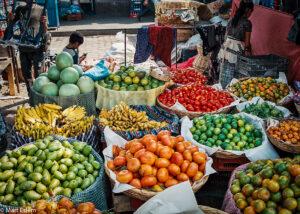 Stánek na tržišti, Antigua Guatemala (Mart Eslem)