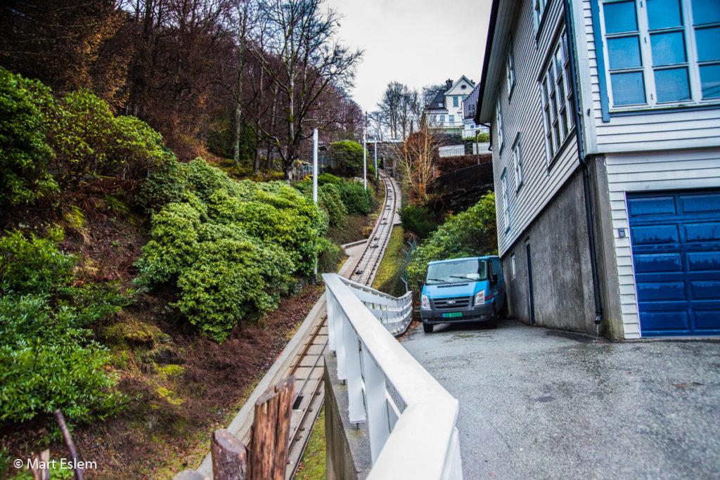 Zubatá lanovka na horu Floyen v Bergenu (Mart Eslem)
