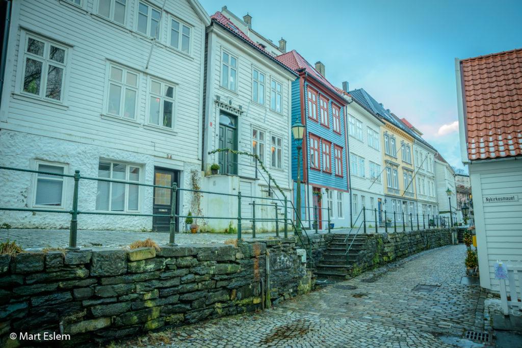 Typické skandinávské domky v Bergenu (Mart Eslem)