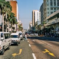 Rušné ulice Durbanu mohou být i nebezpečné, JAR [Mart Eslem]