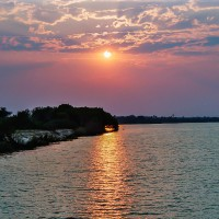 Západ slunce nad Zambií, JAR [Mart Eslem]