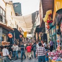 Bazarová část Istanbulu (Mart Eslem)