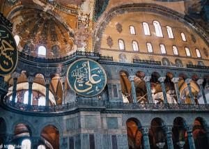 Impozantní vnitřek chrámu Hagia Sophia v Istanbulu (Mart Eslem)