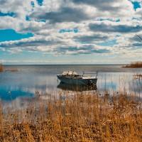 Estonské pobřeží Čudského jezera (Mart Eslem)