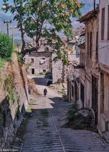 Staré kamenné stavby v centru Gjirokastry (Mart Eslem)