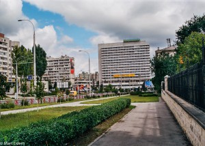 Konec bulváru Stefana cel Mare v Kišiněvě (Mart Eslem)