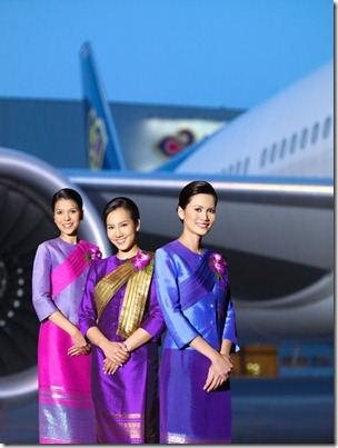 Thai Airways Flight attendant uniform