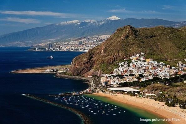 Easat Coast Tenerife Beach Canary Islands Spain