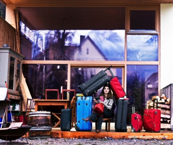 House of suitcases