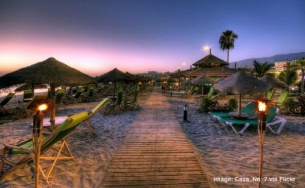 Beach bar in Tenerife Canary Islands Spain