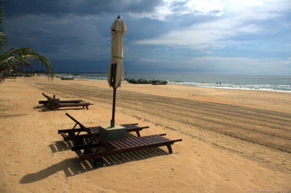 Beach at Jetwing Blue Hotel Negombo Sri Lanka