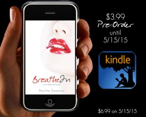 Breathe In book Pre-Order $3.99 on Kindle