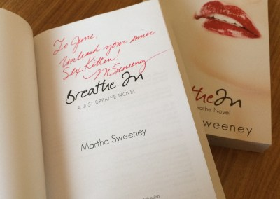 autographed Paperback copy of Breathe In by Martha Sweeney