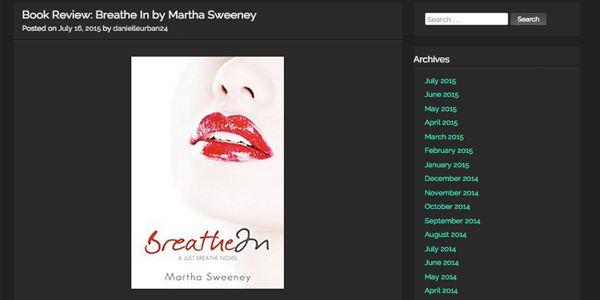 breathe in by martha sweeney book review