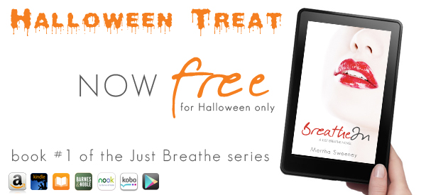 Today ONLY Halloween Treat – Breathe In is FREE on Amazon Kindle