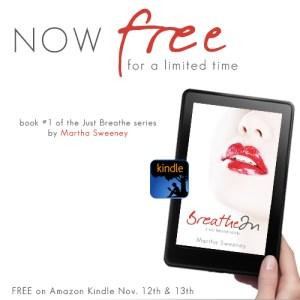 Breathe In by Martha Sweeney Free on Amazon Kindle