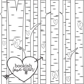 Bookish: Adult Coloring Book by Martha Sweeney bookish love affair coloring page