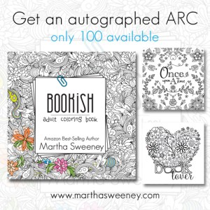 Bookish: Adult Coloring Book by Martha Sweeney ARC discount price while supplies last
