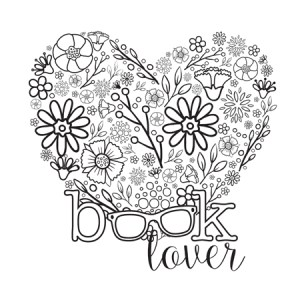 Bookish: Adult Coloring Book by Martha Sweeney book lover coloring page