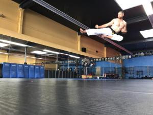 Chris Carlson flying