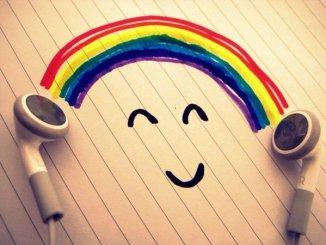 Positivity-rainbow happy-face