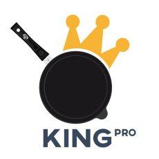 illustrazione, logo padella con la corona