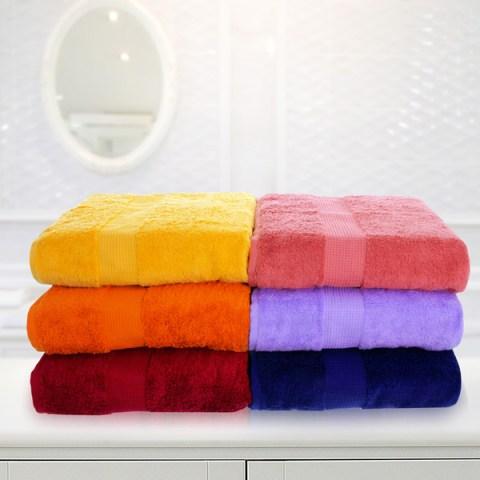 6 Coppie Asciugamani in Spugna di Cotone idrofilo dai colori assortiti Makò