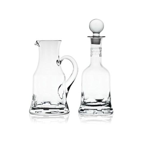Brocca e Bottiglia Completo Calici Moderno Pregiato con Incisione realizzata a mano Rossana