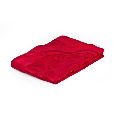Copriletto Matrimoniale in Tessuto Damascato con Balza Divina Rosso