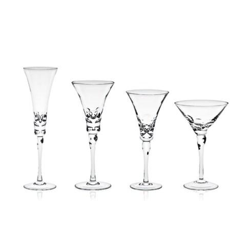 Servizio di Bicchieri Completo Calici Moderno Pregiato con Incisione realizzata a mano Rossana