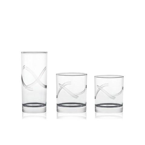 Servizio di Bicchieri dal Design Moderno con Incisione realizzata a mano Nola