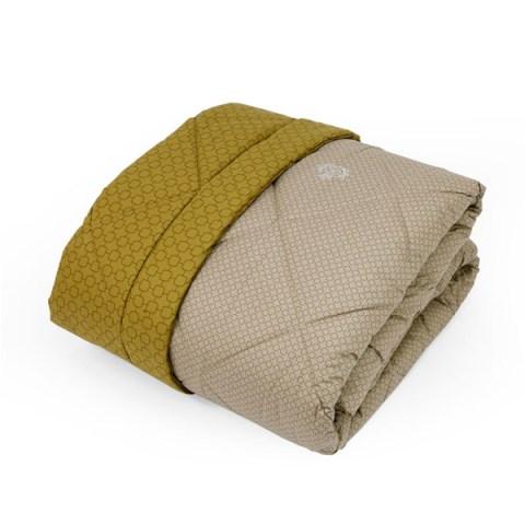 Trapunta moderna bicolore Quadri Sabbia e Oro - Baltimora