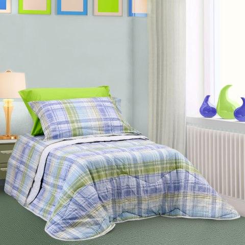 Coordinato letto Blu quadroni scozzese 1 piazza Alicante